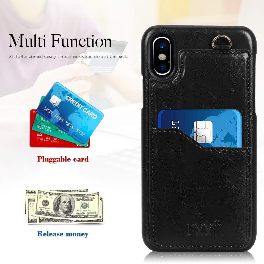 "PU Leather Case with Card Slots for iPhone Xs Max 6.5"" (2018)"