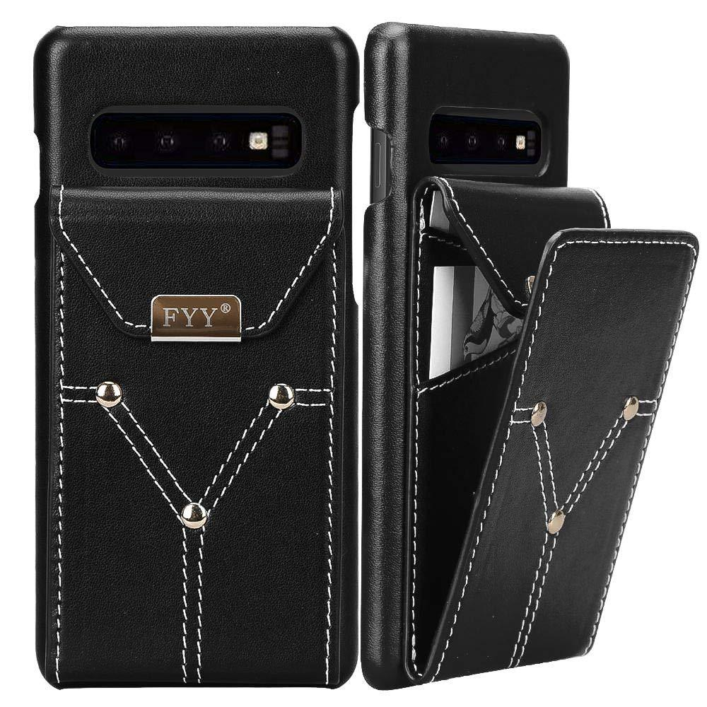 Genuine Leather Wallet Case for Galaxy S10+ Plus 6.4""