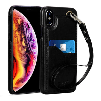PU Leather Case with Card Slots for iPhone Xs Max 6.5