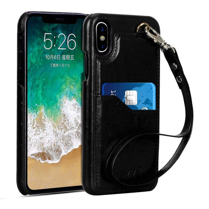 PU Leather Wallet Case for iPhone Xs (5.8