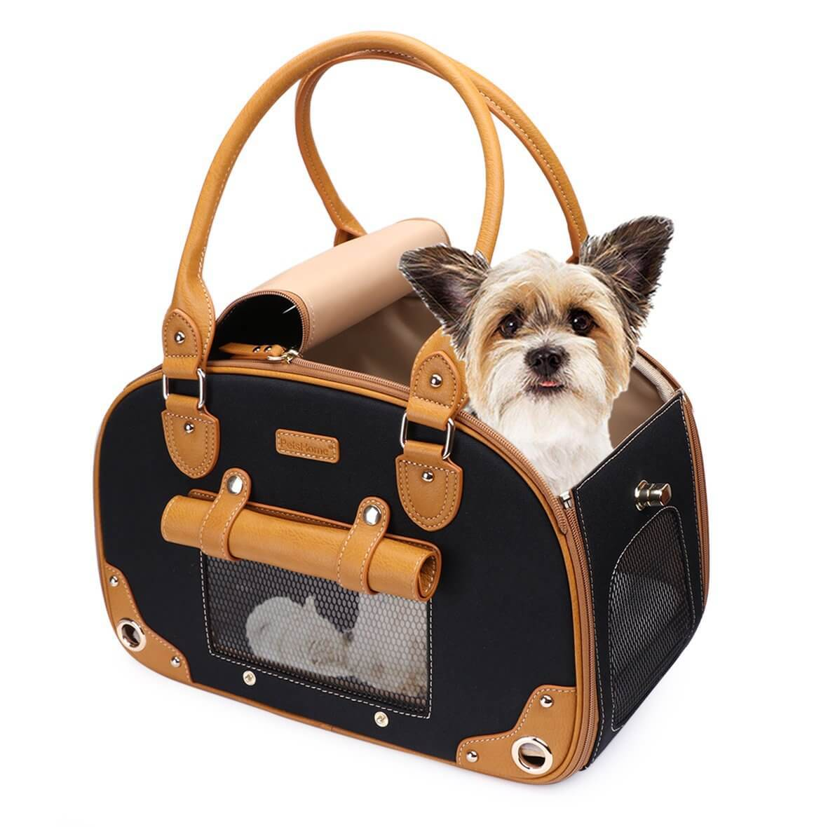 Waterproof Premium Leather Pet Carrier