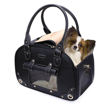 Waterproof Premium Leather Pet Carrier | mywenyi