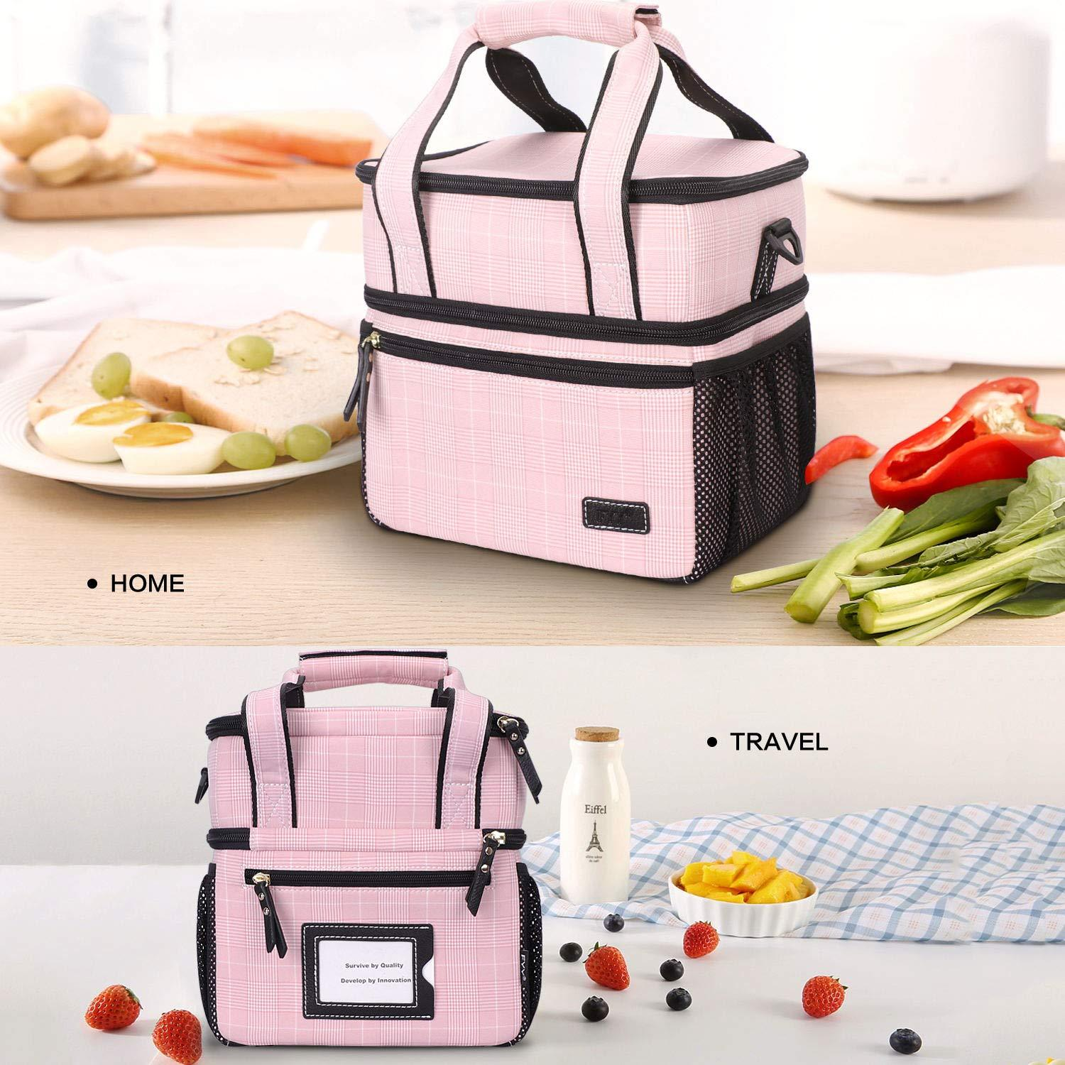 Insulated Lunch Bag with Handle and Shoulder Strap
