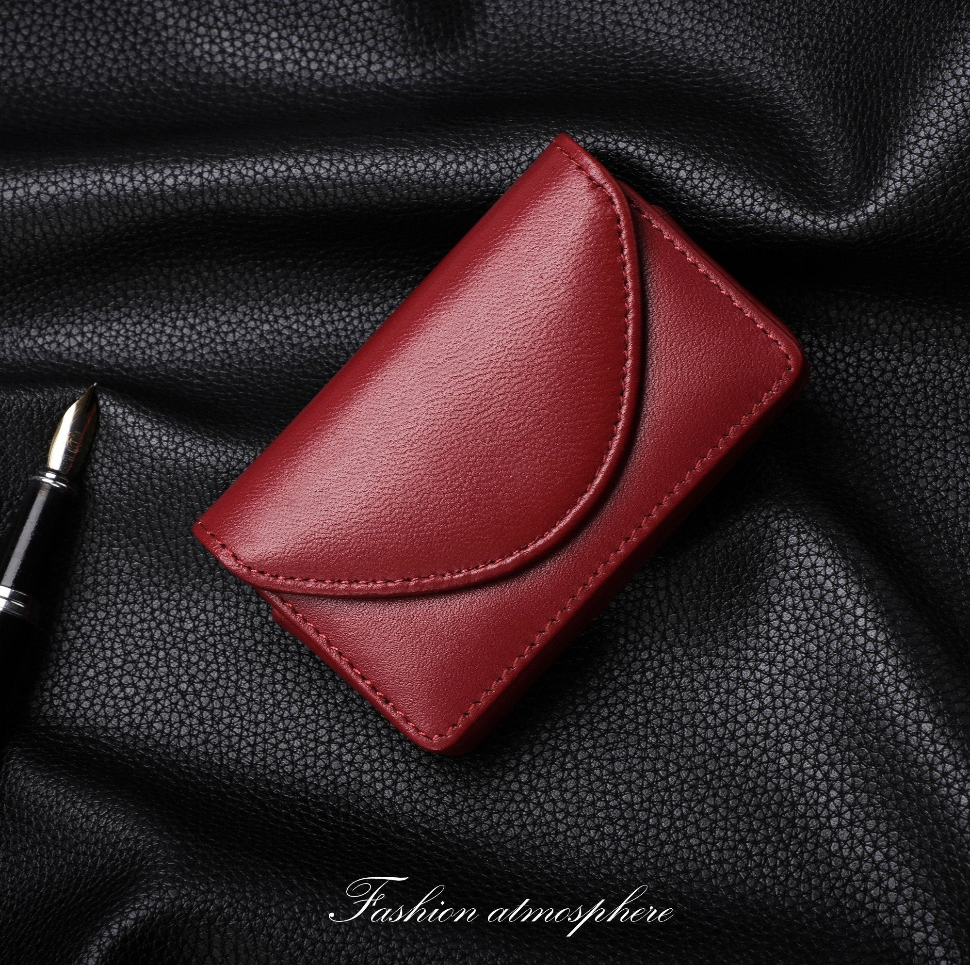 Genuine Leather Business Name Card Case