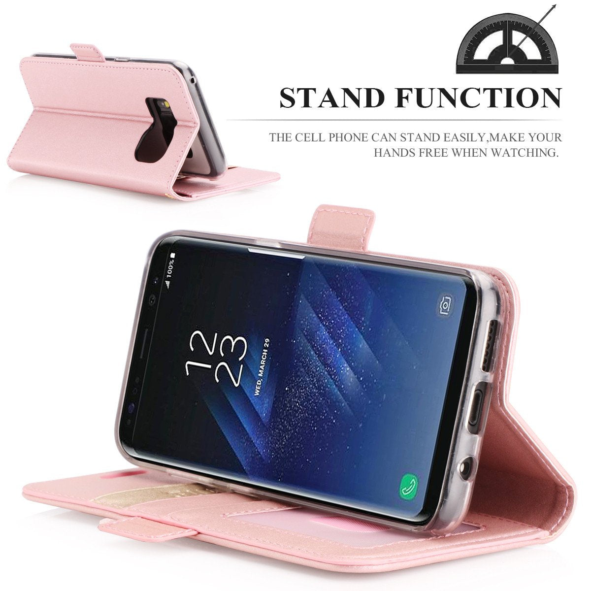 PU Leather Wallet Case for Galaxy S8 Plus
