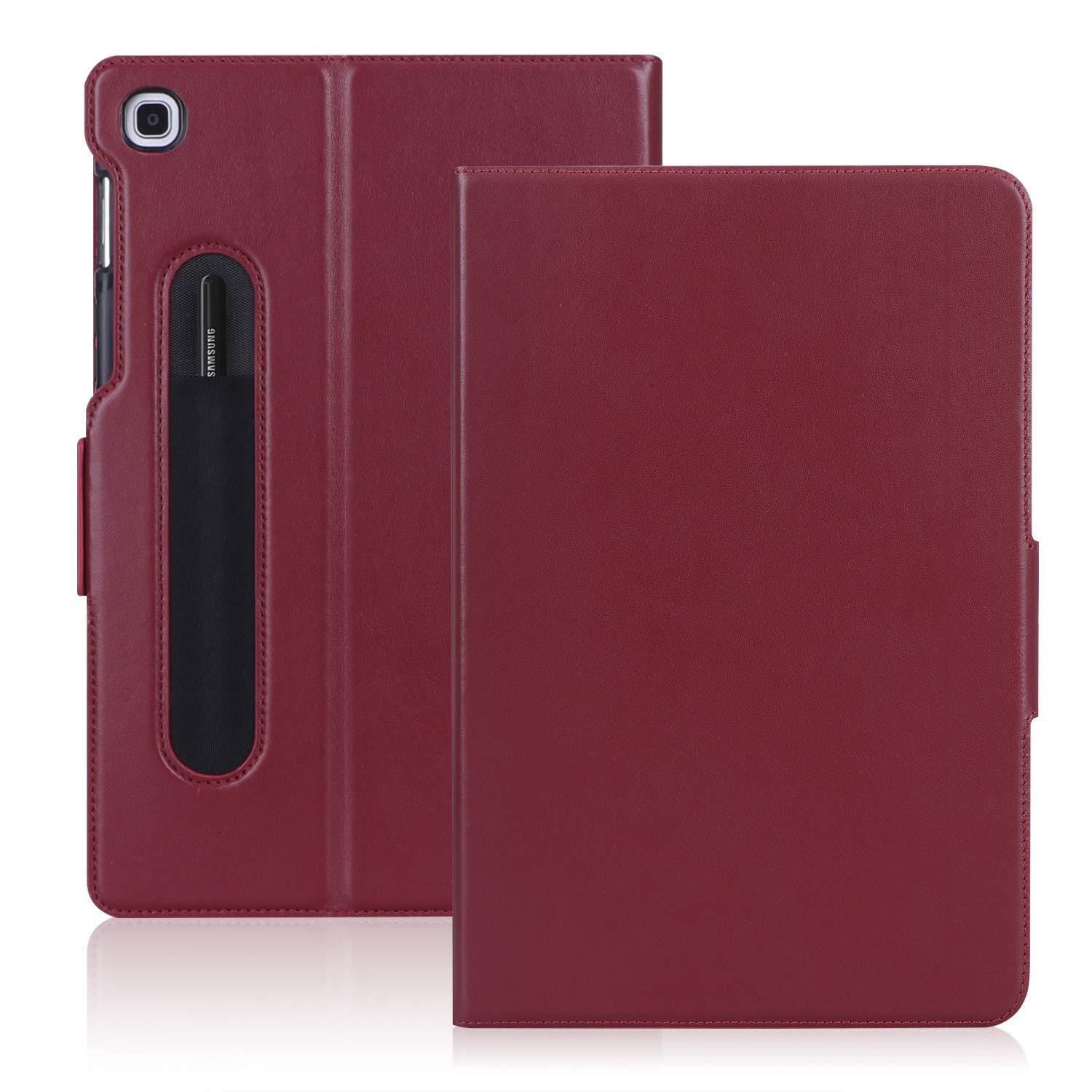 Pencil Holder Genuine Leather Case for Galaxy Tab S5E