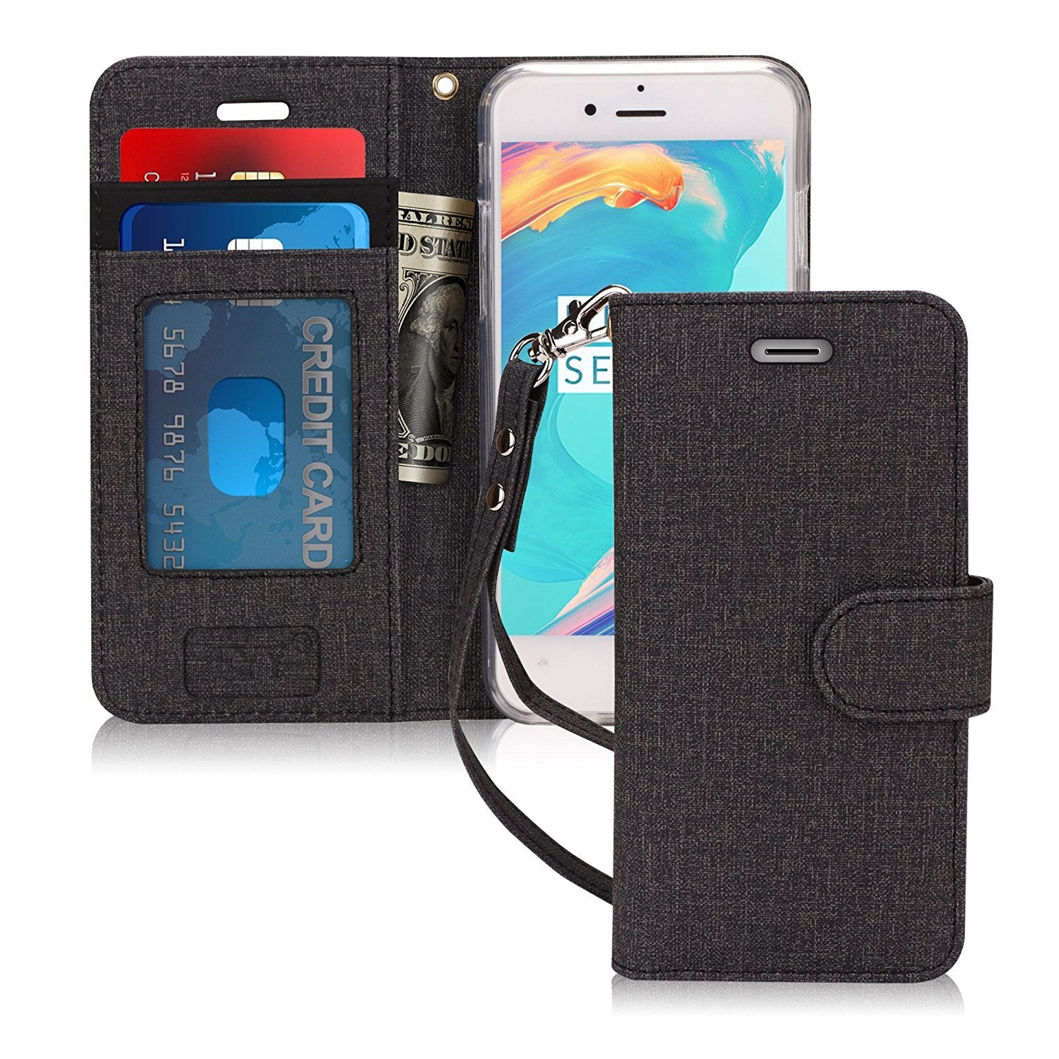 "Canvas Wallet Case for iPhone 8/7 (4.7"")"