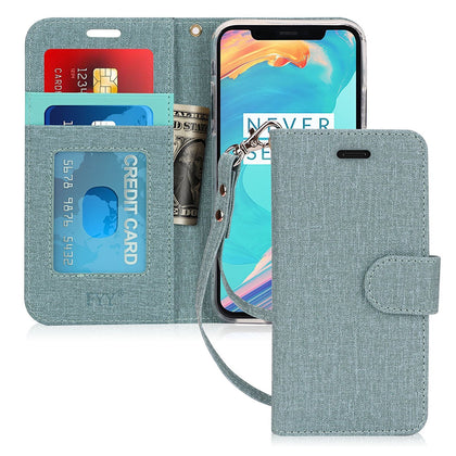 Canvas Wallet Case for iPhone Xs 5.8