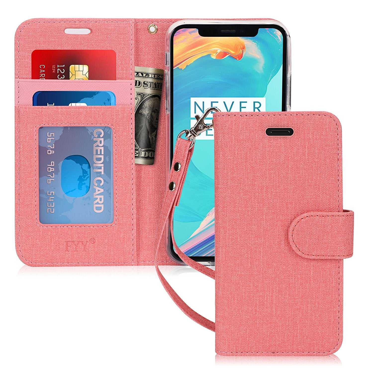 "Canvas Wallet Case for iPhone Xs 5.8"" (2018)/iPhone X/10 2017"