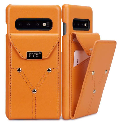Genuine Leather Wallet Case for Galaxy S10 6.1