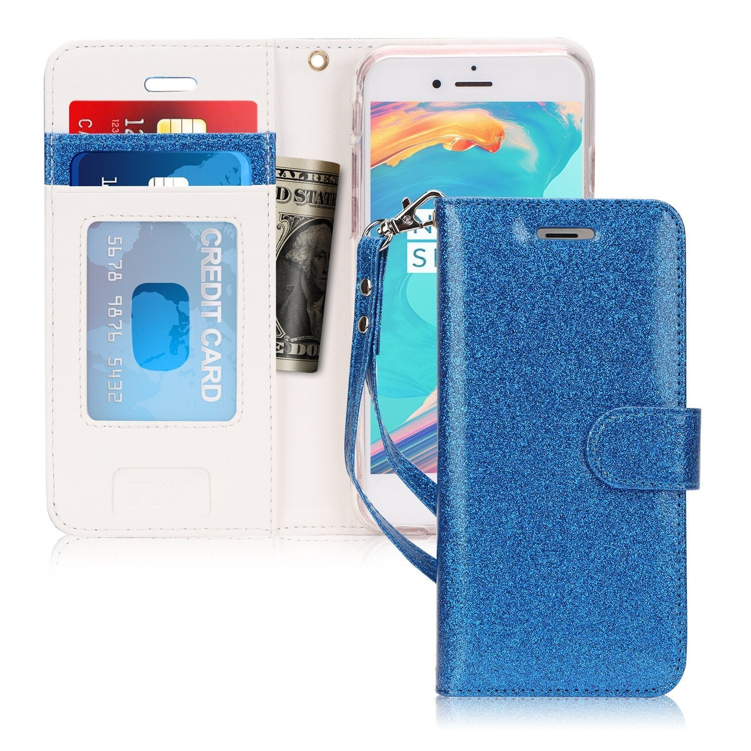 PU Leather Wallet Stand Case for iPhone 6/6S Plus