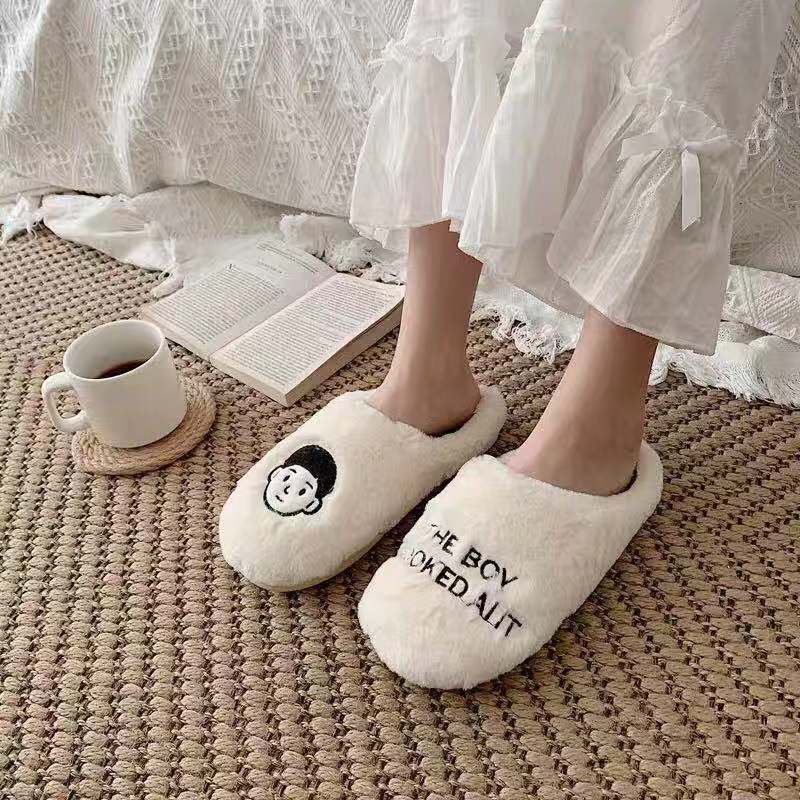Witty Socks™ Cozy Couple Slippers | Closed Toe