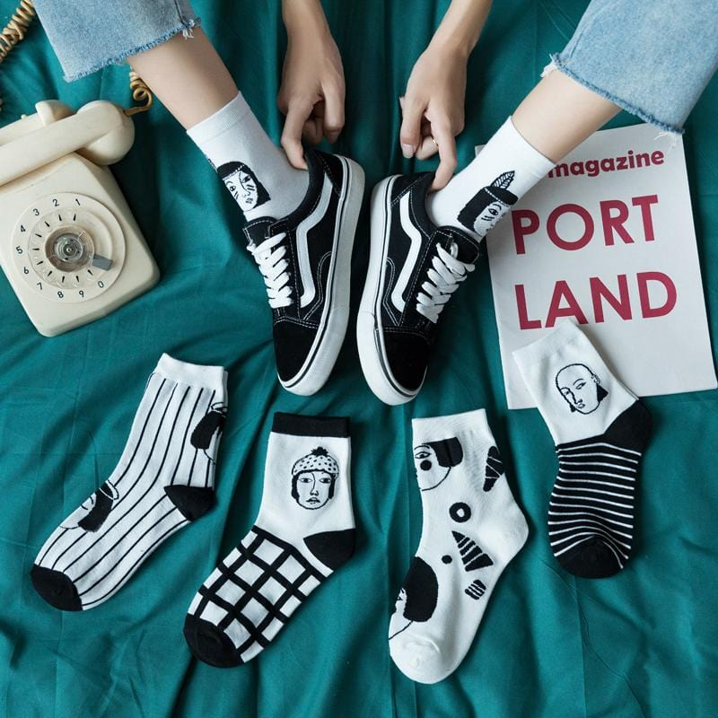 Witty Socks™ Quirky Illustrated Harajuku Collection