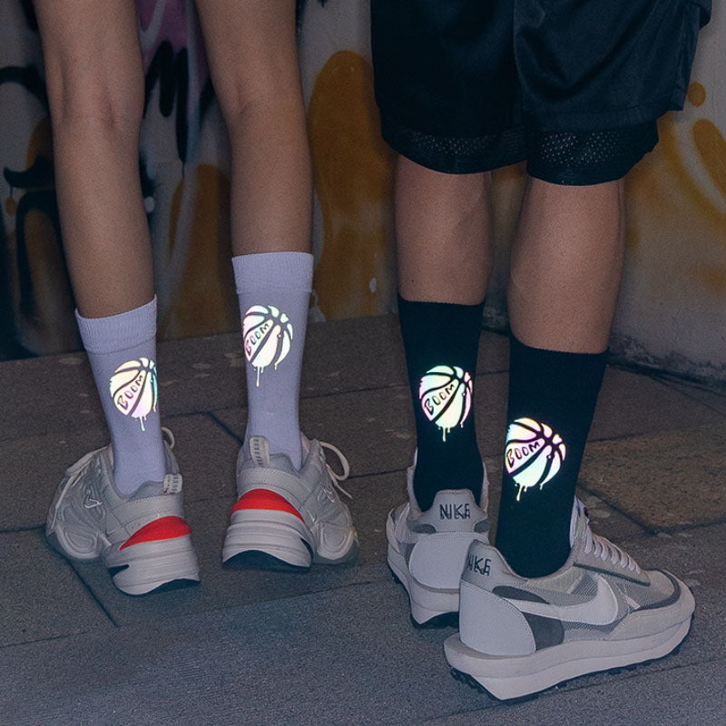 Witty Socks™ Holographic Glowing Reflective Collection