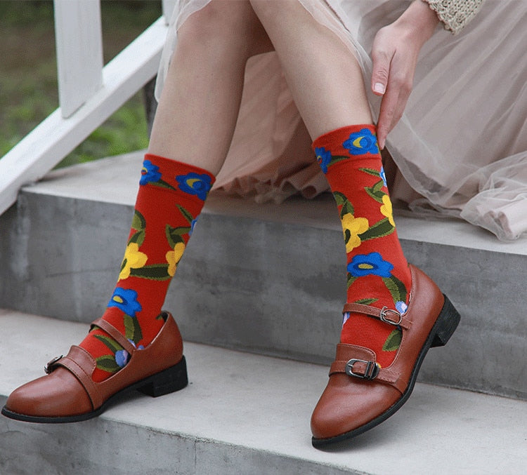 Women | Witty Socks ™ Flower Art Collection