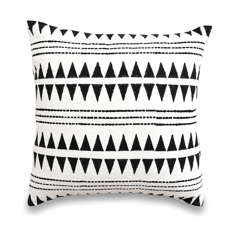 mudcloth, made in india, white, cushion cover