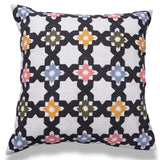 Embroidered White cushion cover with trellis pattern 18 x 18 front