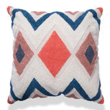 Boho Chic Embroidered Cotton Pillow Cover With Fully Embroidered 18 X 18 Throw Couch Sofa Cushion Multi color Chevron Pattern Pillow cases