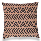 Brown Block Printed Cotton Throw 20 x 20 Pillow cover Tribal Cushion Living room Bohemian Decor Christmas Decor Geometric Pillow Case