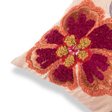 Floral Embroidered cotton Pillow 18 X 18 Bohemian Decorative Cushion Cover Designer Sofa Boho Decor Ethnic Decor Throw pillow Multi color