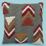 Decorative tufted moroccan grey pillow cover 18 x 18 pillow case Cushion Cover