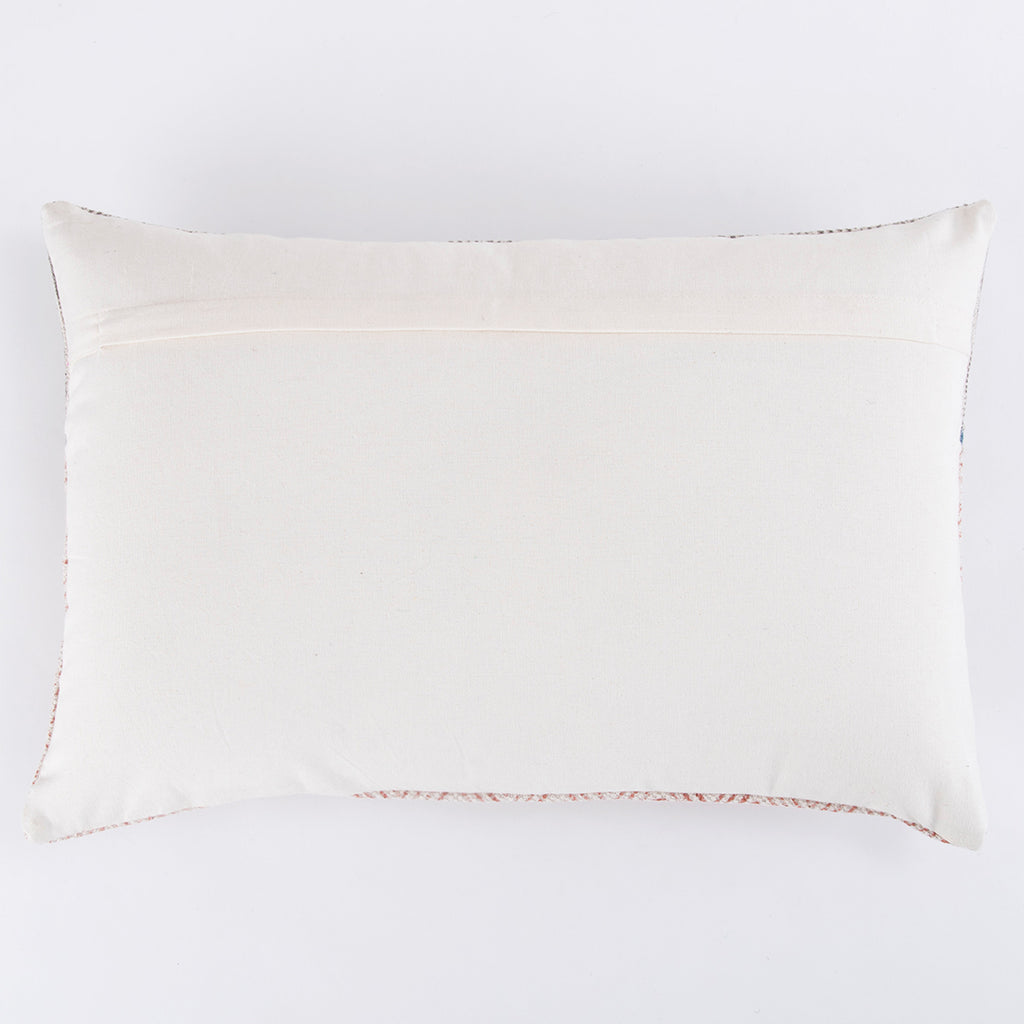Cho-cho embroidered Printed Cotton cushion cover in Grey and Brown 16 x 24