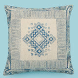 Boho Printed Pillow Cover, Handmade Indian Dhurrie Pillow 18 x 18, Sofa Cushion Cover, Decorative Cushion, Rustic Rug Pillow, Couch Pillow