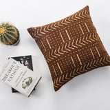 Beautiful Brown 18 X 18 Mud Cloth Throw Pillowcase Block Printed Pillow cover Arrow Cotton Cushion African mudcloth Couch Pillow Sofa Pillow