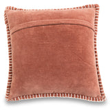 Decorative valvet brown cushion cover with handstitched border 20 x 20 back
