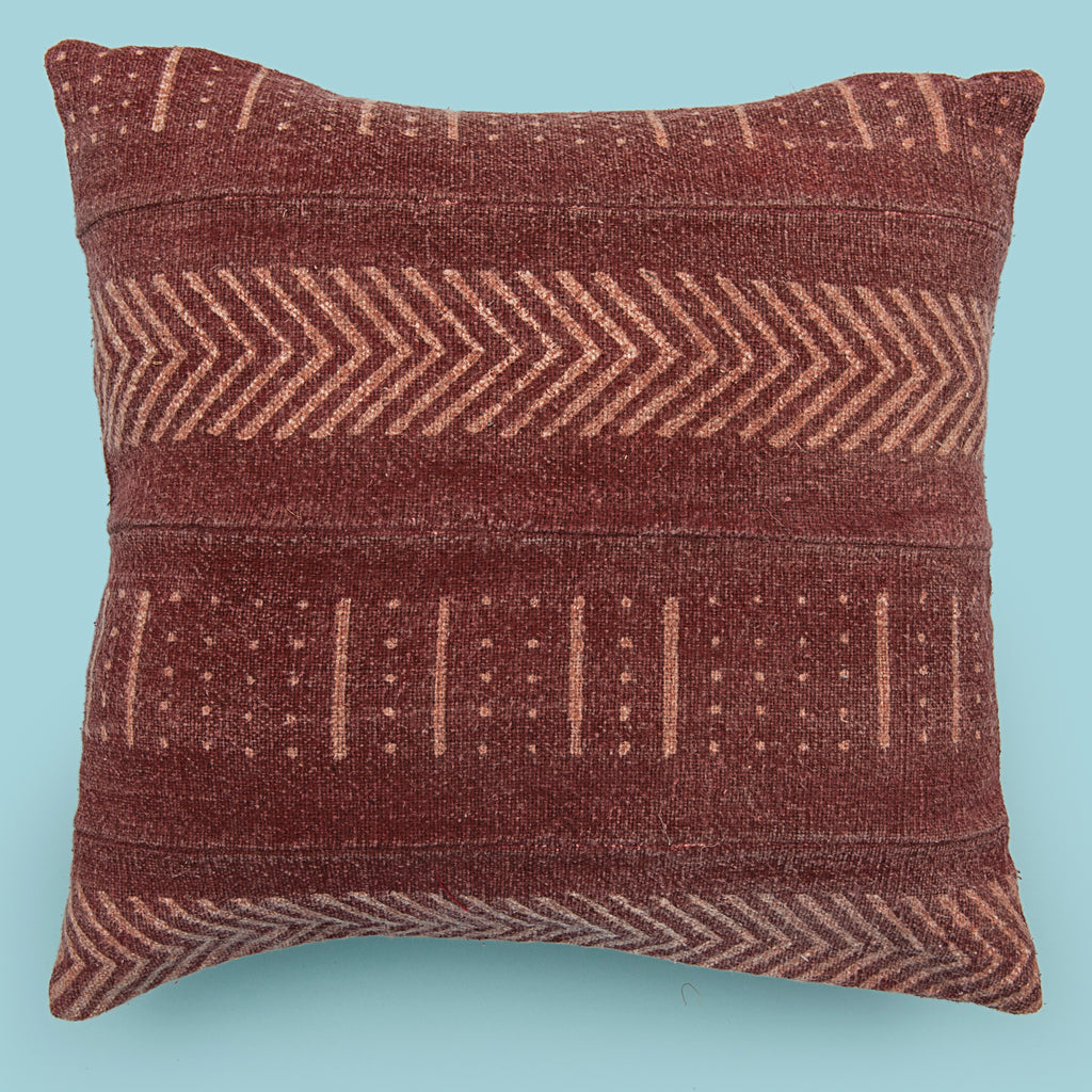 Red 18 x 18 Mud Cloth Throw Pillowcase Block Printed Pillow cover Arrow Cotton Cushion African mud cloth Couch Pillow Tribal Cushion Cover