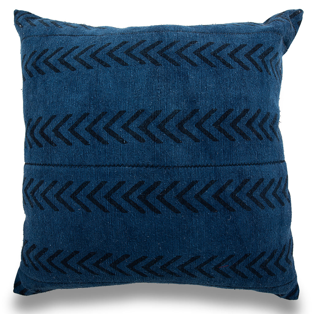 Blue 18 x 18 Mud Cloth Throw Pillowcase Block Printed Pillow cover Black Arrow Cotton Cushion cover African mudcloth PillowLiving Room Decor
