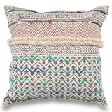 Boho Block Printed Throw Cushion Cover Indian Dhurrie Pillow 20 X 20 Decorative Silk Embroidered Pillow Rustic Rug Pillow Sofa Pillow Cover