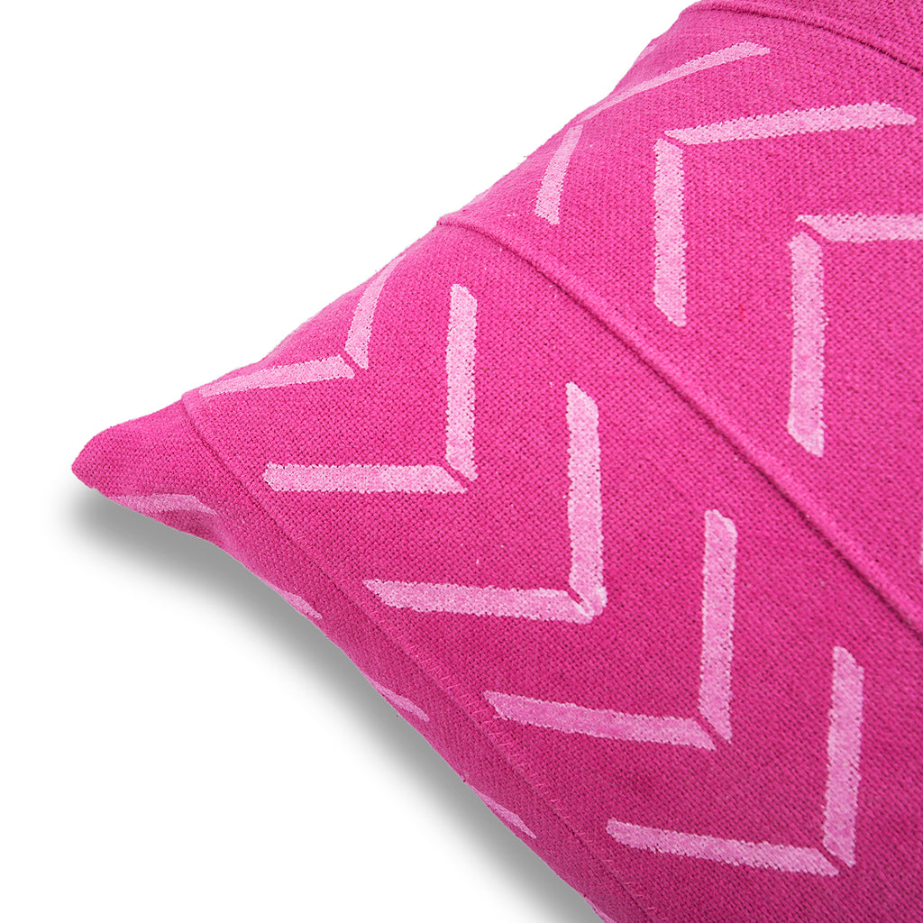 Beautiful Pink 18 x 18 Mud Cloth Throw Pillowcase Block Printed Pillow cover Arrow Cotton Cushion African mudcloth Pillow Christmas Decor