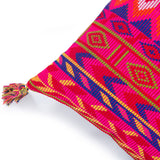 Home comfortable Kilim pattern Pink Jacquard Cushion cover Square 20 x 20 corner