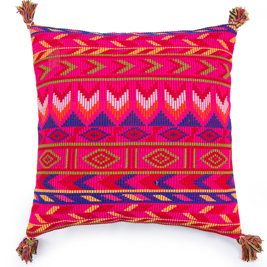 Home comfortable Kilim pattern Pink Jacquard Cushion cover Square 20 x 20 front
