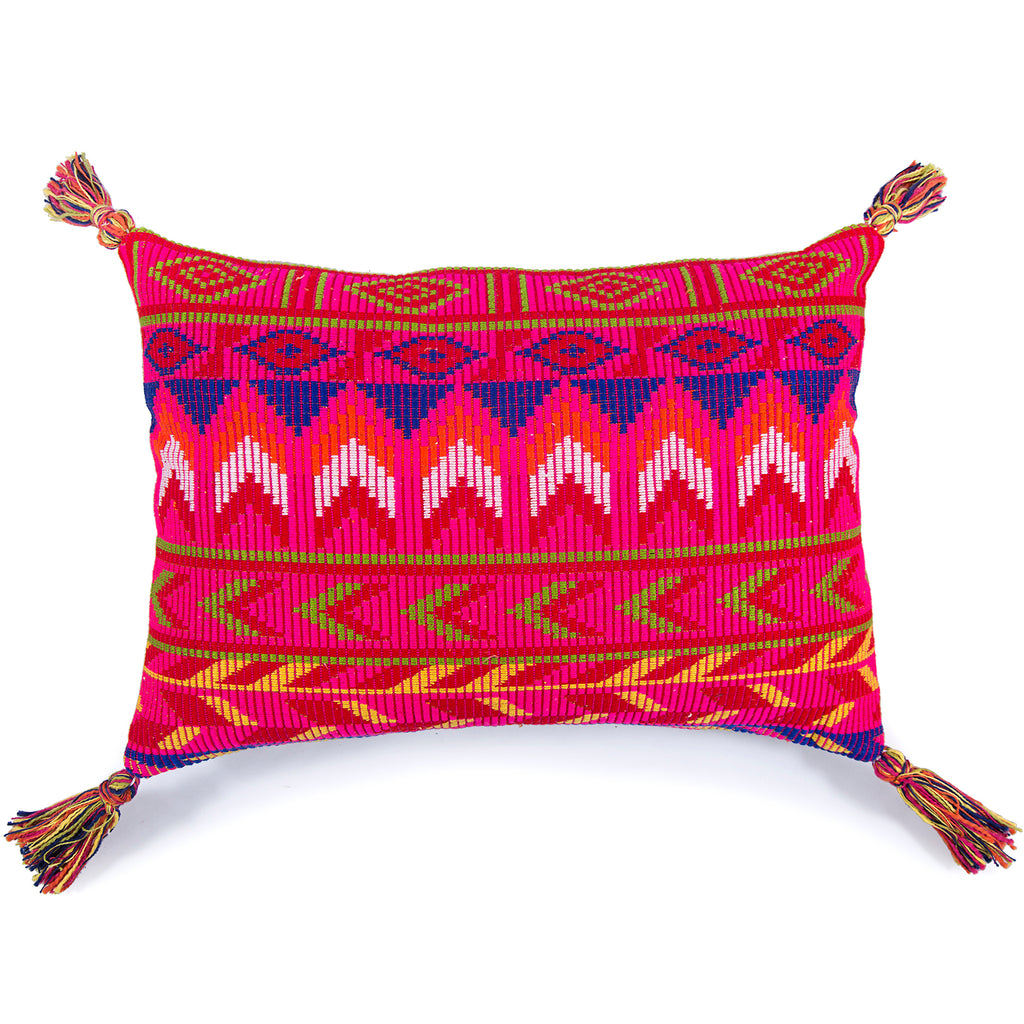 Home comfortable Kilim pattern Pink Jacquard Cushion cover rectangle 16 x 16 front