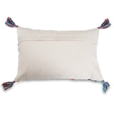 Home comfortable Blue Jacquard Lumbar Pillow cover 16 x 24 back