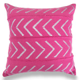 Beautiful Pink 18 x 18 Mud Cloth Throw Pillowcase Block Printed Pillow cover Arrow Cotton Cushion African Mud - Cloth Pillow Home Decorative