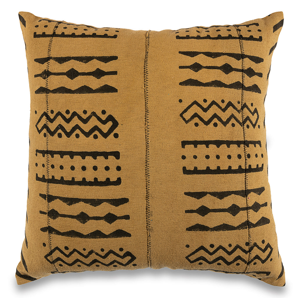 18 x 18 Mud-Cloth Throw Pillowcase Block Printed Mustard Yellow Pillow cover Cotton Cushion African mud cloth Pillow Tribal Cushion Cover
