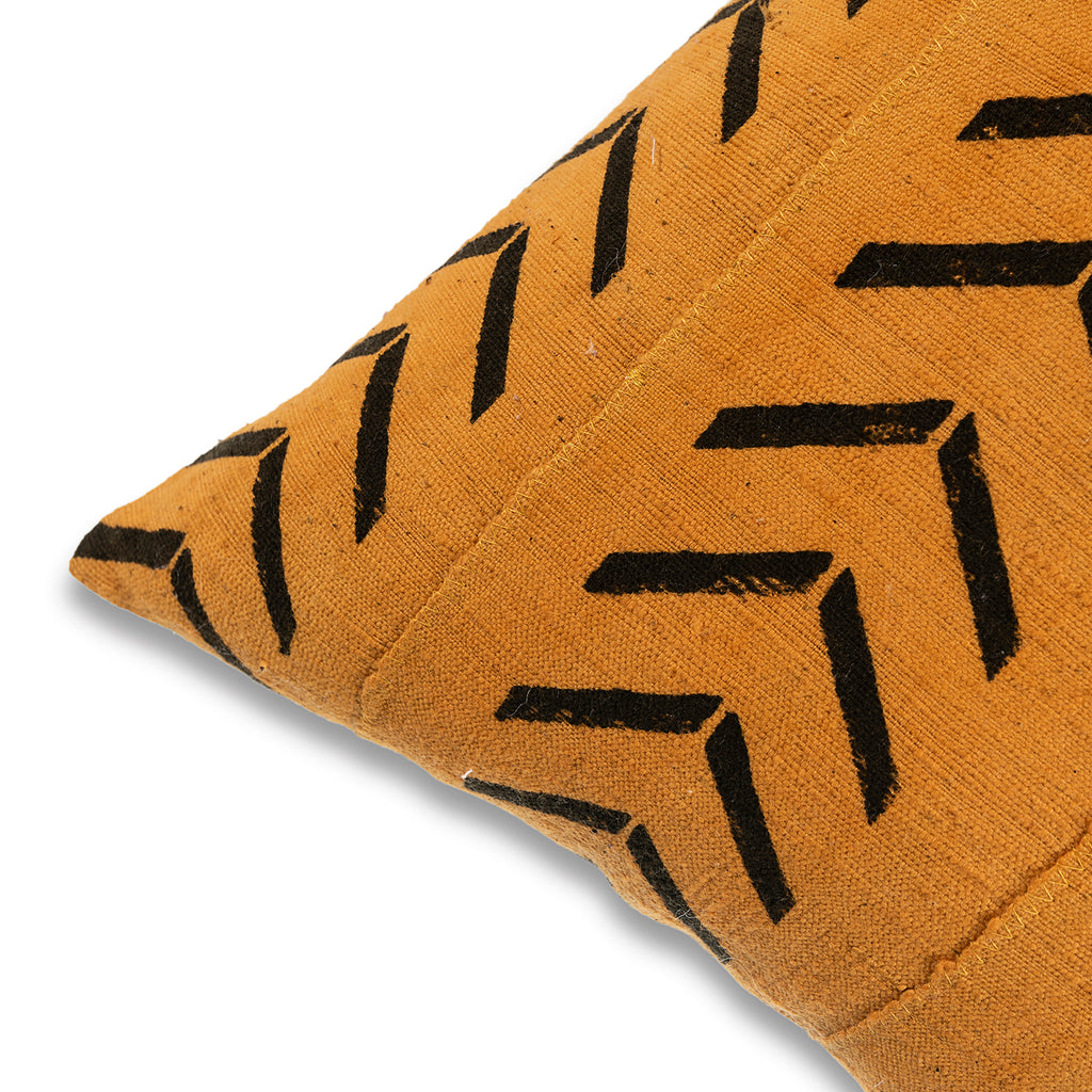 African mud cloth Pillow 18 x 18 Mud-Cloth Throw Pillowcase Block Printed Yellow Pillow cover Cotton CushionTribal Cushion Cover Home pillow