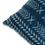 Beautiful Blue 18 x 18 Mud Cloth Throw Pillowcase Block Printed Pillow cover Arrow Cotton Cushion African mudcloth Pillow Living Room Decor