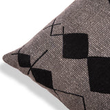 Designer Bohemian Embroidered Cotton Cushion 20 X 20 Geometric Square Pillow Rich Home Decorative Sofa Couch Cushion Black Throw Pillow Case