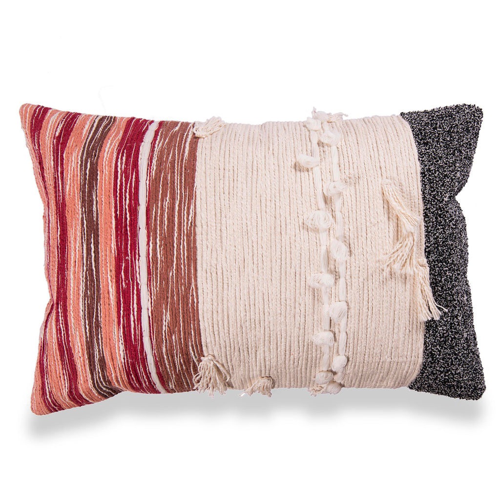 Decorative Embroidered pillow cover with abstract pattern 16 x 24