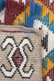 Boho Decorative Jute Rugs For Home Decor With Multi Color Kilim Pattern 48 x 72