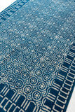 Traditional Block Printed Carpet Indigo Cotton Dhurrie Rug Handmade 4 X 6 Rug Boho Picnic Rug Hand Woven Prayer Rug Beach Rug Floor Mat