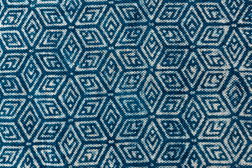 Traditional Natural Colour Printed Carpet Indigo Cotton Dhurrie Rug Handmade 4 X 6 Rug Picnic Rug Hand Woven Prayer Rug Beach Rug Floor Mat