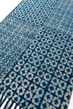 Handmade Indigo Cotton Dhurrie 4 x 6 Rug Traditional Block Printed Carpet Boho Picnic Rug Hand Woven Prayer Rug Beach Tribal Rug Floor Mat