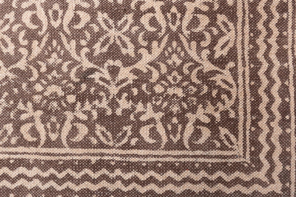 Traditional Vintage looking Brown Cotton Dhurrie Rug Handmade 4 X 6 Rug Boho Picnic Rug Hand Woven Beach Rug Floor Mat Hand-Dyed Prayer Rug