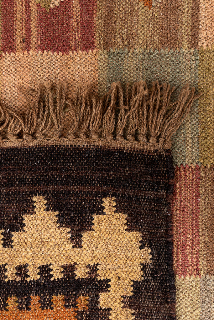 Traditional Kilim Pattern Rustic Decor Wool Rugs For Home & Living Room Decor 48 x 72 brown