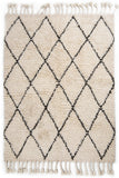 Bohemian Decor White Beni Ourain Wool Rugs For Home Decor 60 x 78